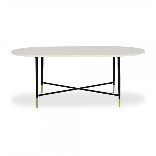 White Marble Alora Coffee Table Modern Marble Tables
