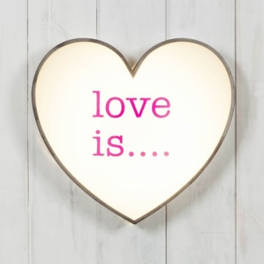 Classic Lightbox Herz - Love Is