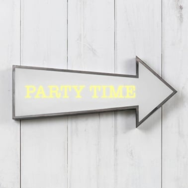 Classic Lightbox Pfeil - Party Time