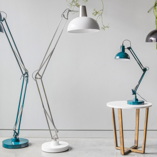 Giant Retro Floor Lamp Chrome