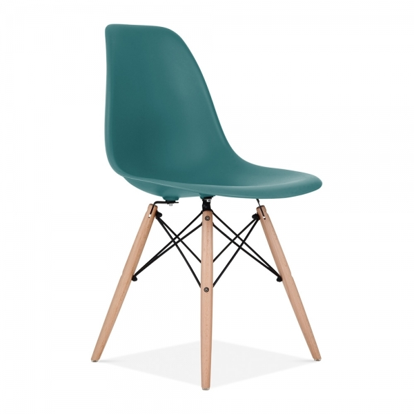 DSW Style Plastic Dining Chair, Teal