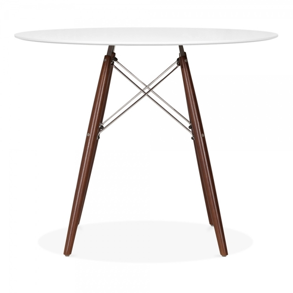 DSW Style Round Dining Table, White 90cm