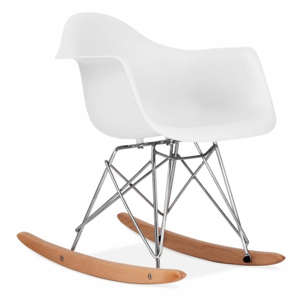eames inspired style white kids rar rocker chair cult. Black Bedroom Furniture Sets. Home Design Ideas