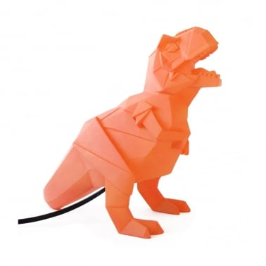 Geometrische LED T-Rex Lampe - Orange