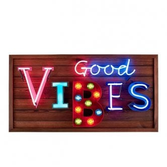 Good Vibes LED Birnen Schild