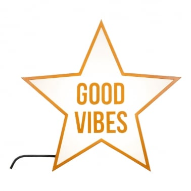 Good Vibes Star Licht Box - Kupfer