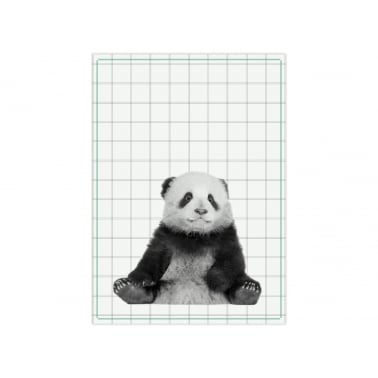 Hexagon Flamingo Geschirrhandtuch - Rosa