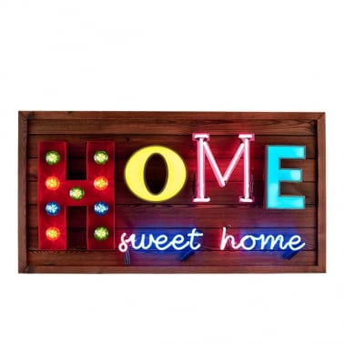 Home Sweet Home LED Birnen Schild