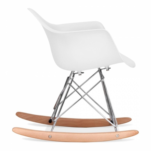 Eames Inspired Style White Kids Rar Rocker Chair Cult Furniture