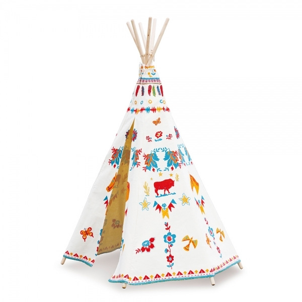 vilac indian teepee with nathalie lete design cult furniture uk. Black Bedroom Furniture Sets. Home Design Ideas