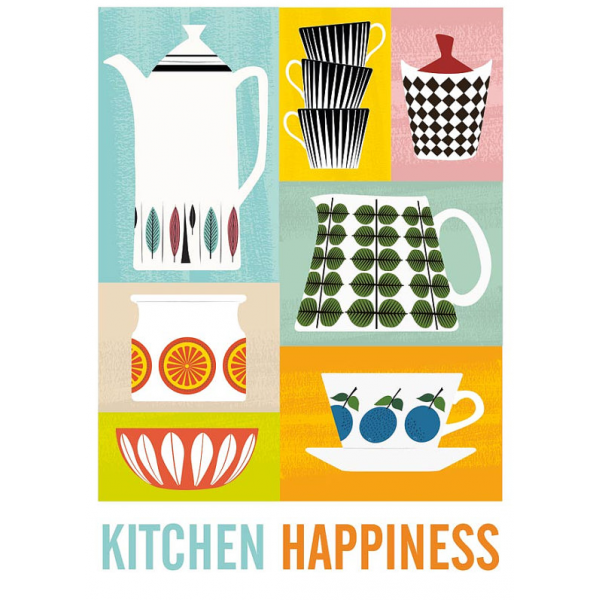 Kitchen Happiness Retro Print | Quirky Prints & Posters | Cult UK