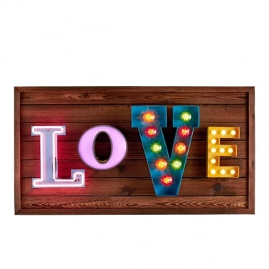 Love LED Birnen Schild