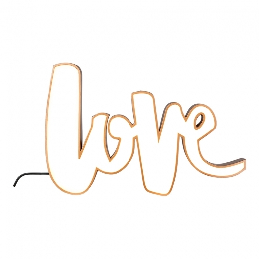 Cult Living Love Licht Box - Kupfer