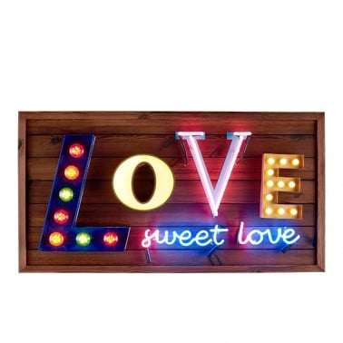 Love Sweet Love LED Birnen Schild