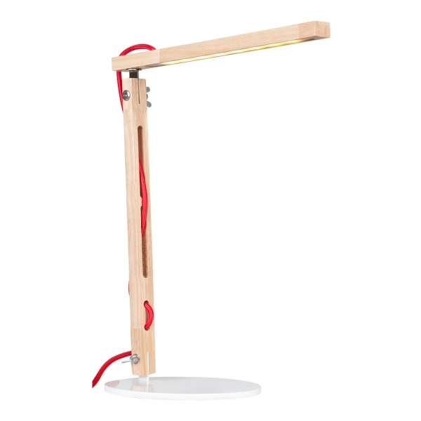 cult living modish led strip wood desk lamp with two arms. Black Bedroom Furniture Sets. Home Design Ideas