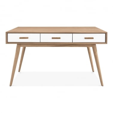 Molander Home Office Desk, Ash Wood, Natürlich