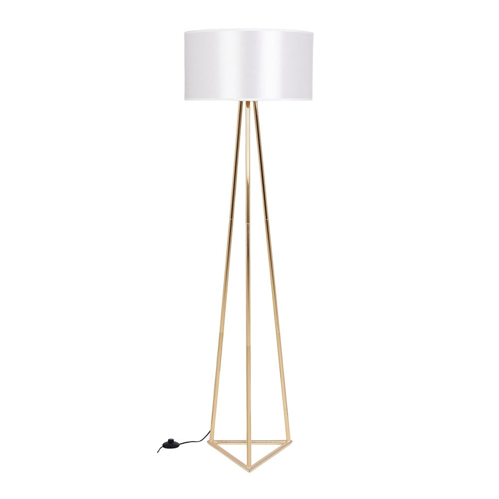 Gold Weiss Orion Metall Stehlampe Moderne Beleuchtung