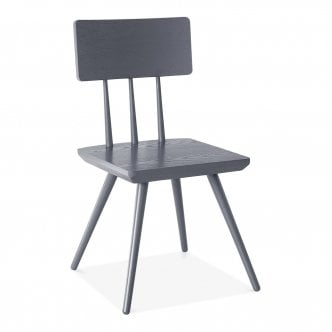 Orla Wooden Dining Chair, Grau