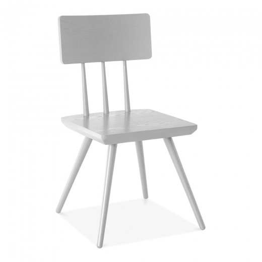 Cult Living Orla Wooden Dining Chair, Weiß