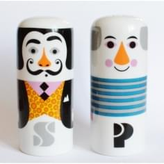 Pablo & Salvador Salt n Pepper Shakers - Multi Coloured