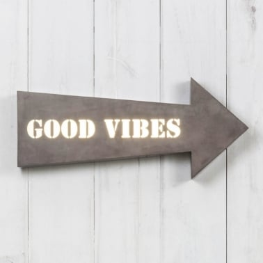 Pfeil Metall Lightbox - Good Vibes