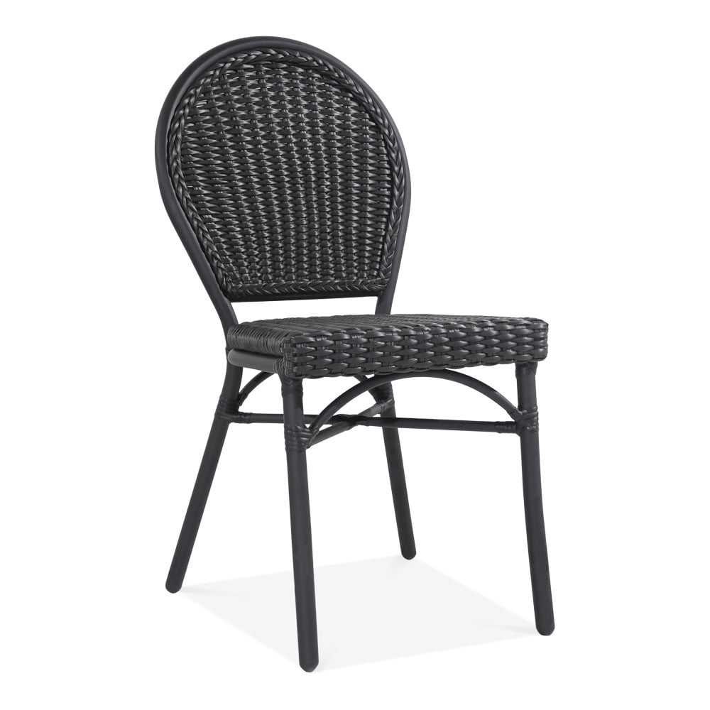 schwarz rattan seymour stuhl bistro cafe gartenm bel. Black Bedroom Furniture Sets. Home Design Ideas