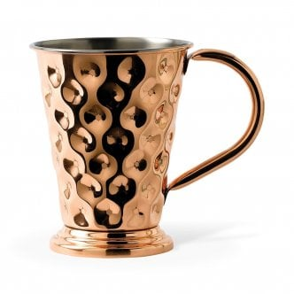 Solid Copper Tapered Dented Mug 48CL