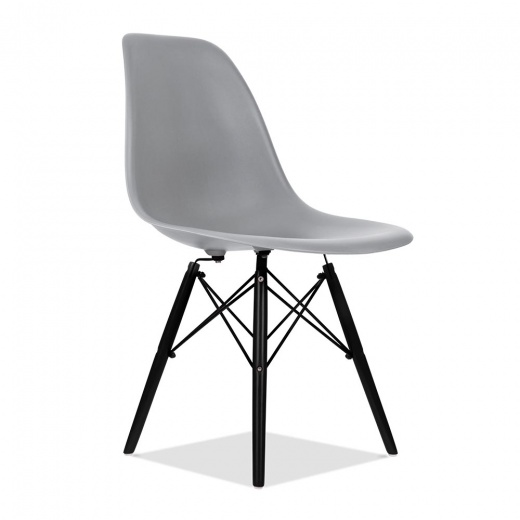 eames style grau dsw stuhl bar restaurant cafe st hle. Black Bedroom Furniture Sets. Home Design Ideas