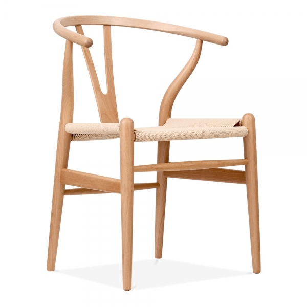 hans wegner style wishbone stuhl in natur holz cult furniture. Black Bedroom Furniture Sets. Home Design Ideas