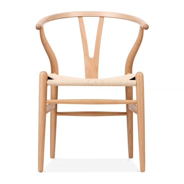 hans wegner style wishbone stuhl in natur holz cult. Black Bedroom Furniture Sets. Home Design Ideas