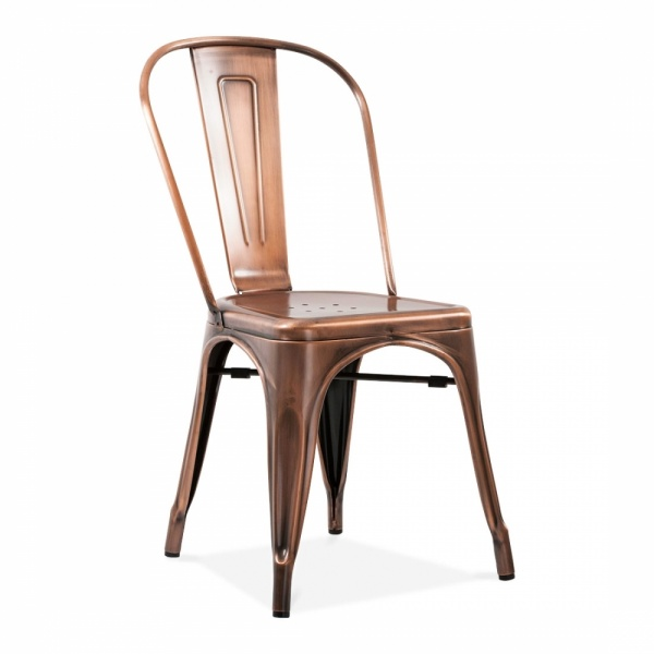 Tolix Stuhl xavier pauchard style brushed copper side chair cult furniture