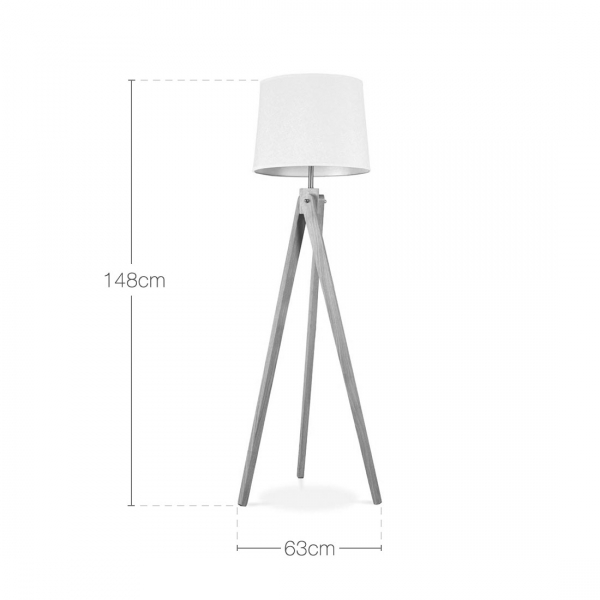cult living tripod floor lamp in natural wood cult. Black Bedroom Furniture Sets. Home Design Ideas
