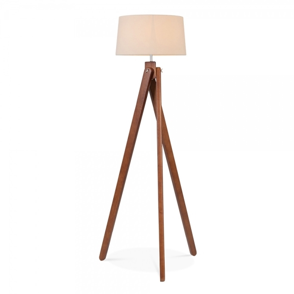 cult living tripod floor lamp in walnut wood cult. Black Bedroom Furniture Sets. Home Design Ideas