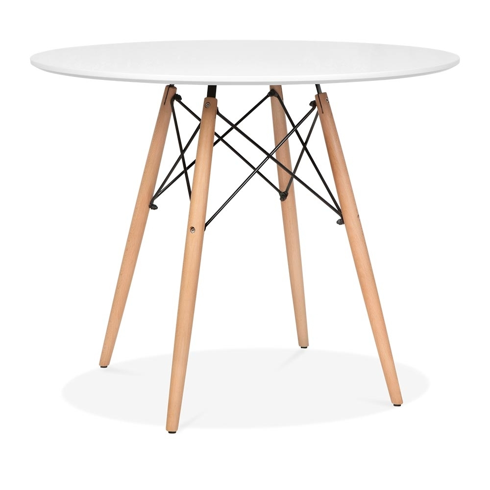 Fabulous Perfect Eames Inspired Wei Dsw Style Runder Tisch Cm Durchmesser U  With Runder Esstisch Wei Holz With Runder Gartentisch Wei With Gartentisch  Sthle